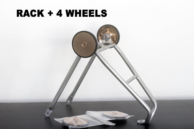 ACE BROMPTON - Estantería trasera para equipaje (tamaño pequeño, 4 ruedas fáciles), color plateado y dorado 4 ruedas fáciles)