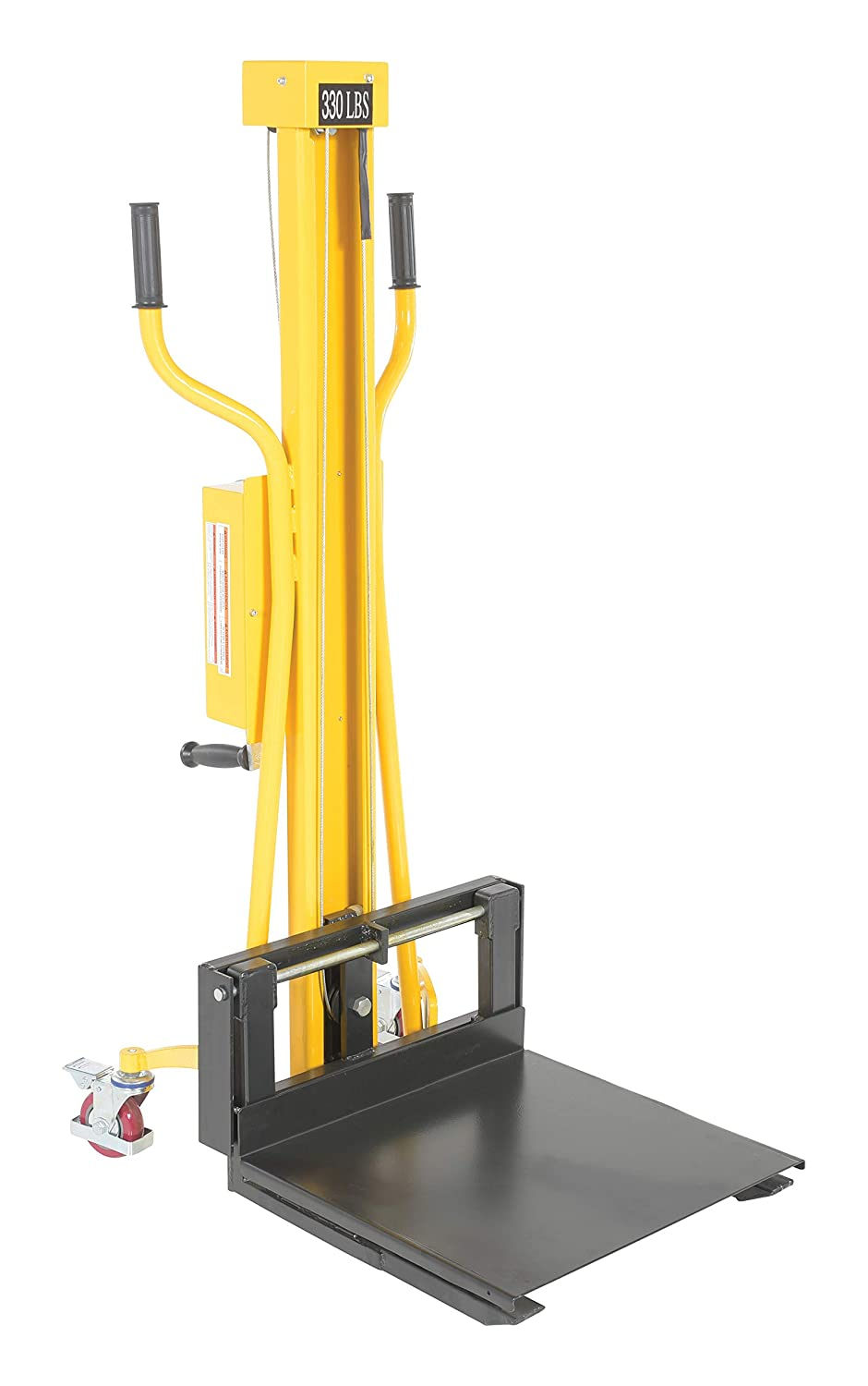 "Vestil HWL-330 Portable Hand Winch Lifter, 31-1/4"" Length, 22-1/4"" Width, 58-1/2"" Height, 330 lbs Capacity"