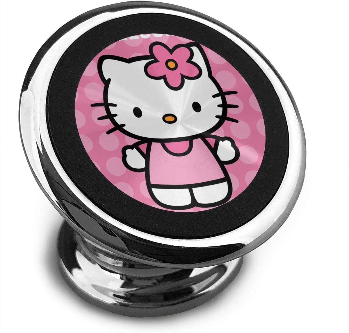 Magnetic Car Phone Holder Stylish Welcome Hello Kitty 360 Degree Rotating Stand Grip Mount Suit for Any Phone iPhone