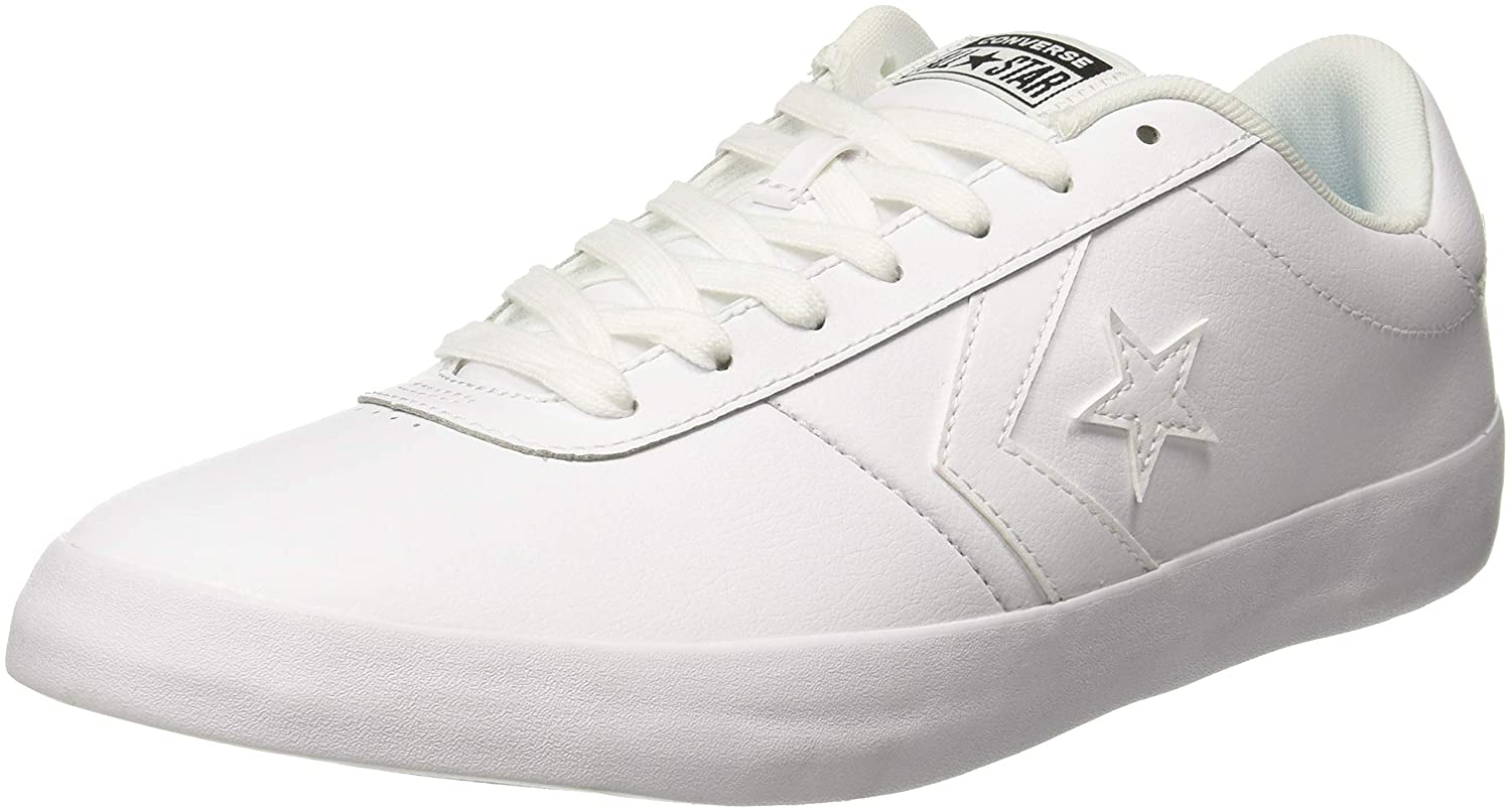 White Leather Sneakers-10 UK