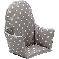 Messy Me High Chair Cushions IKEA Antilop Highchair Padded Seat Covers for Baby (Grey Stars)