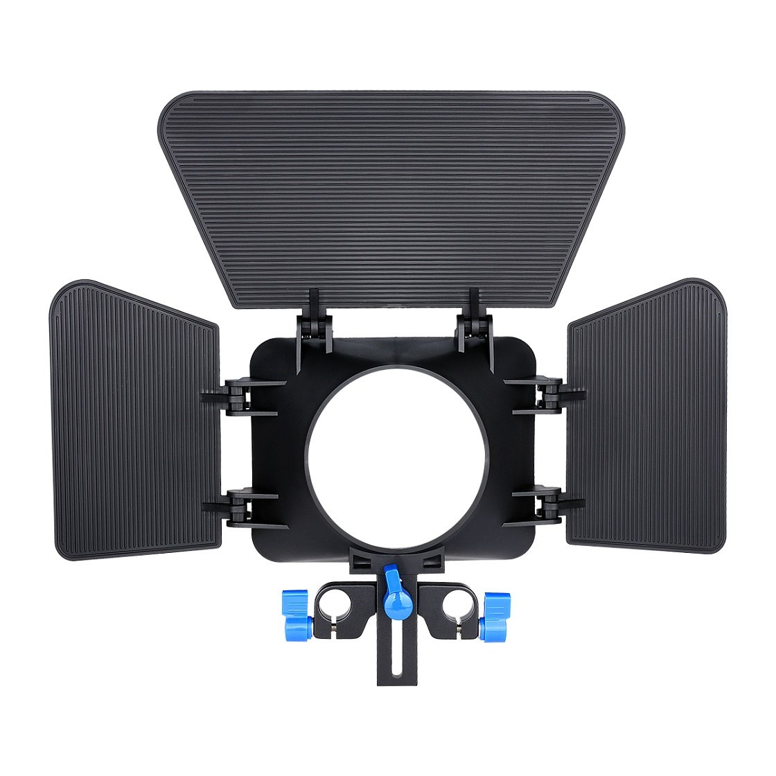Annsm Matte Box for 15mm Standard Rail Rods for Canon Sony Panasonic Nikon Fujifilm Olympus Cameras Camcorder Lenses Diameter Less Than 85mm with Height Adjustable for Different Camera Lenses by Annsm