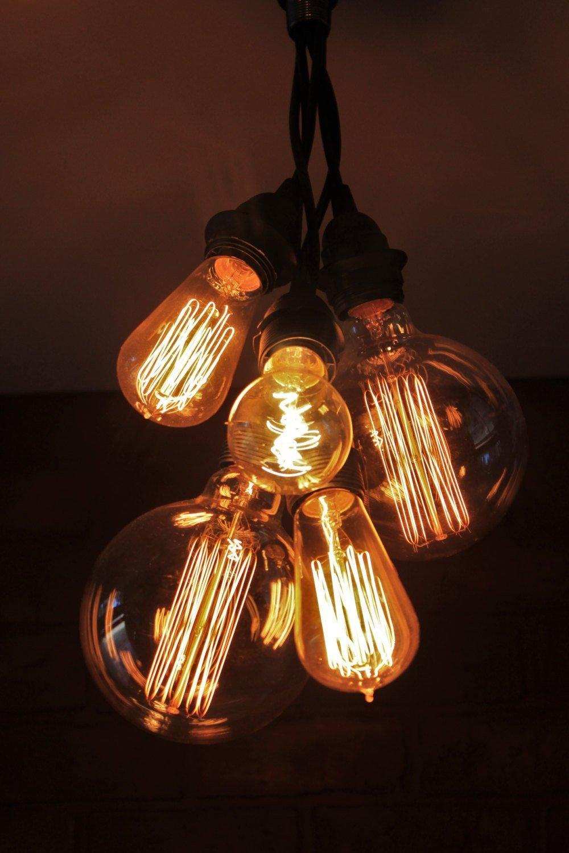 Steampunk Hanging Pendant Lamp Industrial Cluster Pendant Light Edison Bulb Chandelier Ceiling Light Industrial Lighting Pendent