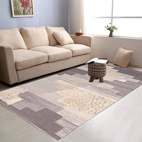 Tufted Cotton Area Rug 4 x 6