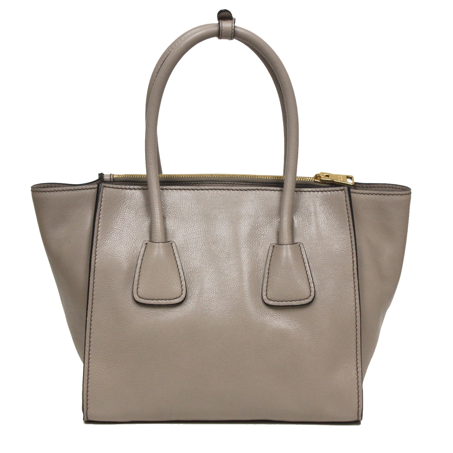 super popular e1ac1 c5ff2 Prada Glance Twins Leather Shopping Tote with Shoulder Strap ...