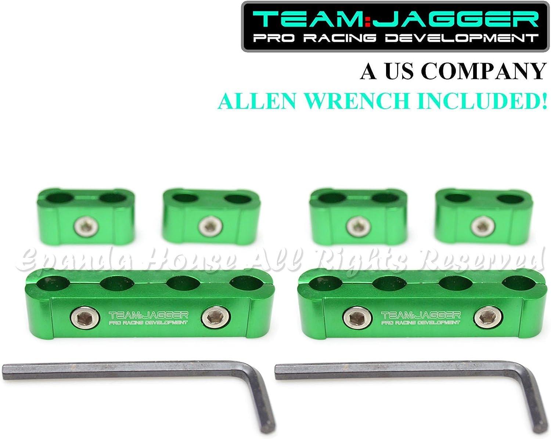 Solo para Ford. 6 abrazaderas separadoras de alambre de 4 cilindros para bujías de carreras de metal verde Usa: Amazon.es: Coche y moto