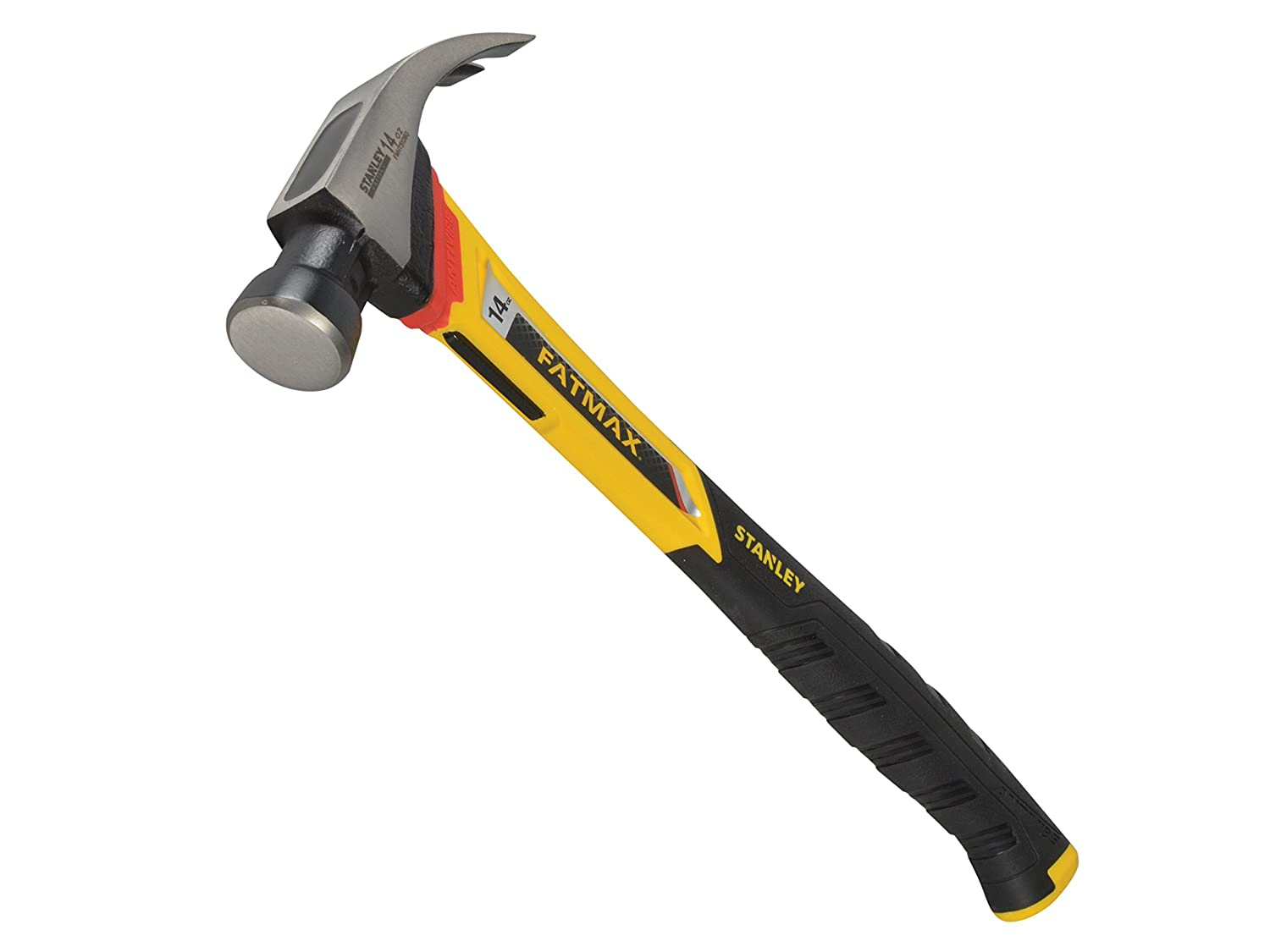 Stanley Tools FMHT1-51260 14oz Curve Claw Vibration Dampening Hammer, Black
