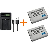 2 pcs 2000 mAh NP-95 NP95 Battery with LCD Single Charger Battery Charger for Fujifilm X30 X100 X100S X100T X-S1 FinePix…