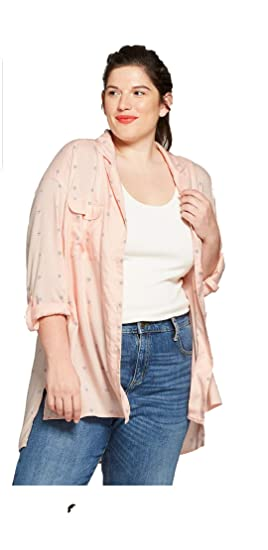 83184797 Image Unavailable. Image not available for. Color: Ava & Viv Women's Plus  Size Printed Button-Down Long Sleeve Shirt ...