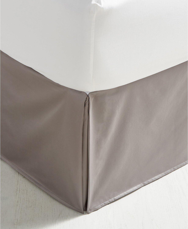 Charter Club Damask Solid 550 Thread Count Supima Cotton California King Bedskirt Stone Dark Gray