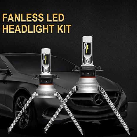 H4 9003 LED Headlight Conversion Kit Bulbs 60W PK 1700W