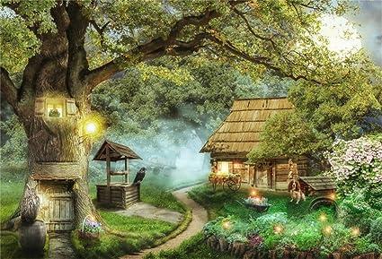 Csfoto Hintergrund Für Traumwald Baum Haus Kamera