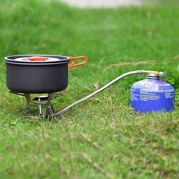 OUTAD Hornillo Portátil Potente para Camping Funciona con Soplete de Gas