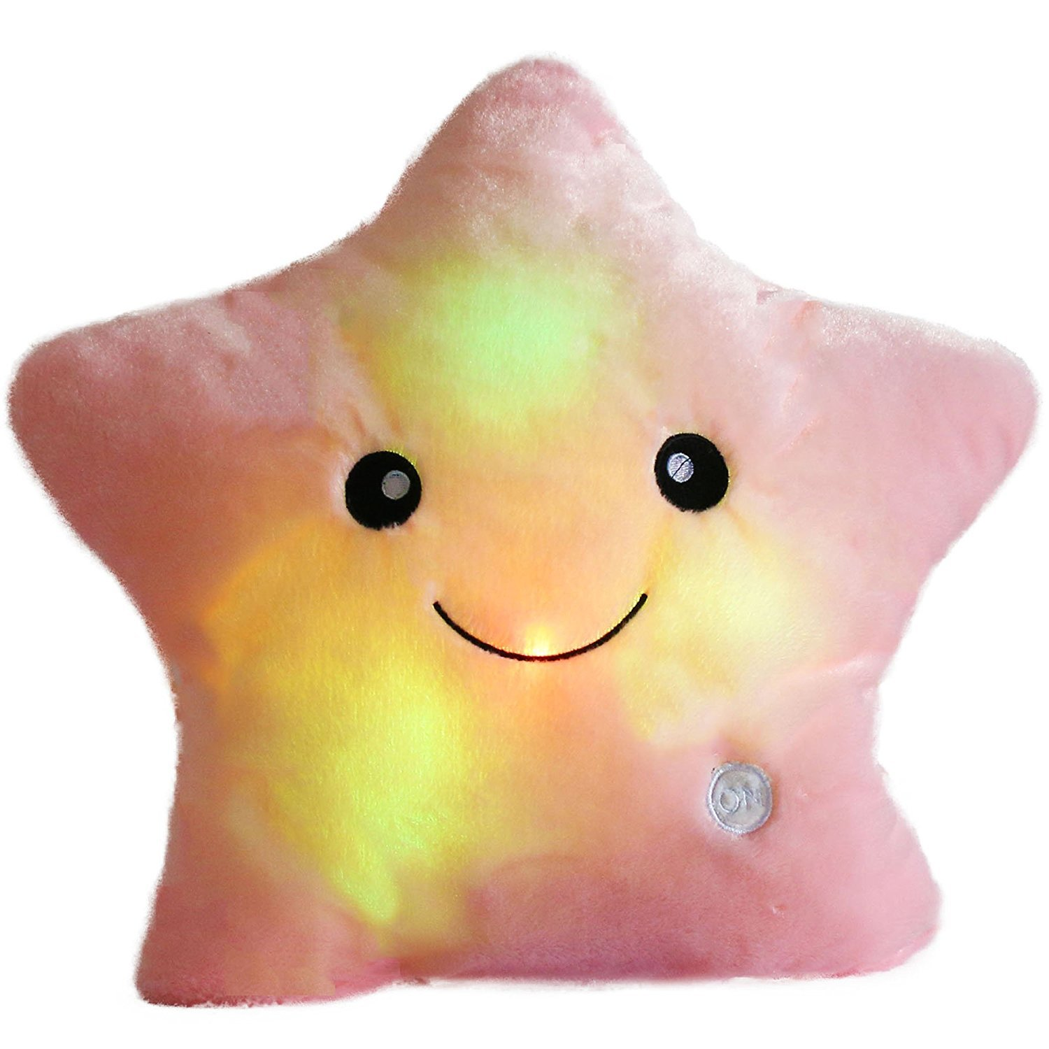 LED Star Pillow Cushions Glowing LED Night Light Star Shape Plush Pillow Stuffed Soft Toys