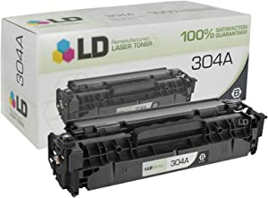 LD Remanufactured Toner Cartridge Replacement for HP 304A CC530A (Black)