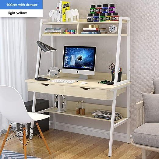QYN Práctico Escritorio De La Computadora,Mesa De Escritorio ...