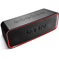 VTIN Bluetooth Wireless Speaker with HiFi-Tec, Support AUX in, Indoor/Outdoor Portable Speaker for Smartphones, IPX6 Waterproof Speaker for Shower/Party/Beach/Car