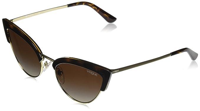 Vogue 0vo5212s W65613 55 Gafas de Sol, Havana/Pale Gold ...