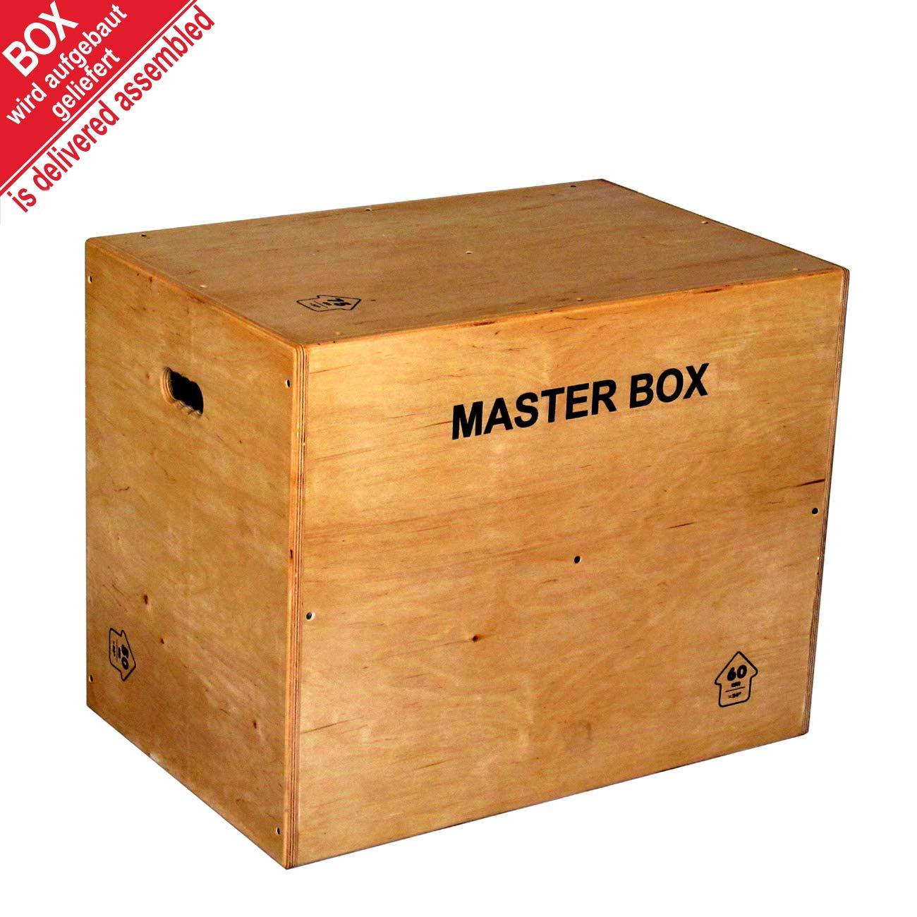 Becker-Sport Germany Fertig aufgebaute Master Box Standard 75 75 75 x 60 x 50 cm, (ca. 30 x 24 x 20 inch), Jump Box, Furnier - Holz Komplett mit Schutzlack überzogen, Kanten abgefräst und gerundet 1226c7