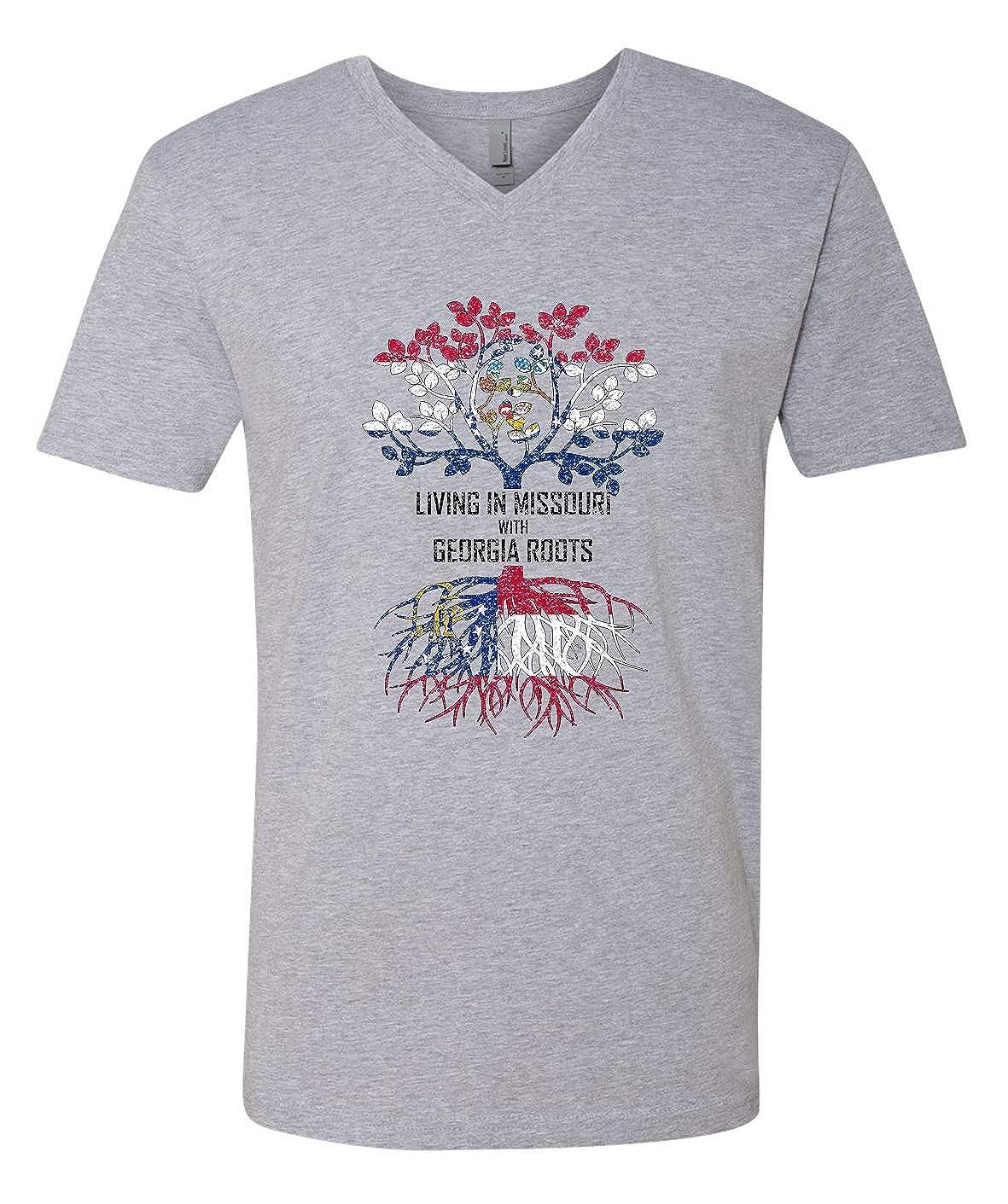 Tenacitee Mens Living in Missouri Georgia Roots T-Shirt