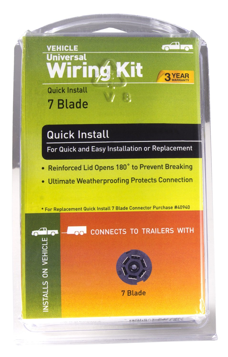 Hopkins 47210 Endurance Universal Wiring Kit Automotive 7 Blade Connector Instructions