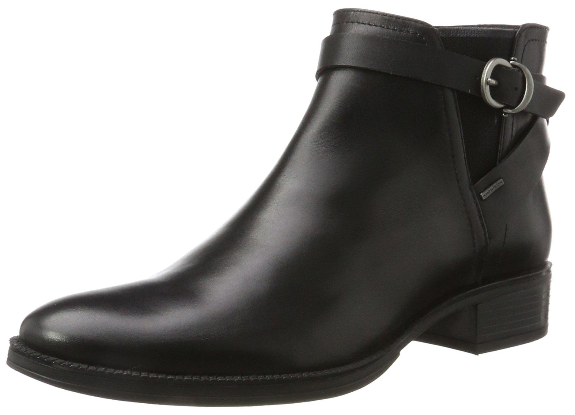 Geox Women's Mendi NP ABX 3 Ankle Bootie, Black, 38 EU/8 M US