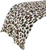 Dreamscene Leopard Print Throw Blanket, Animal Print Bedspread, Brown/Orange