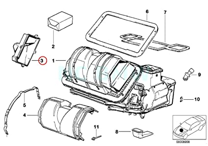Amazon Com Bmw Genuine Evaporator Cover Automotive