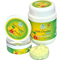 VANIA Haldi Chandan Unisex's Herbal Bleach Cream Cleanses The Dead Skin Long Lasting Cooling Lightens Blemishes, 1000gms Weight ( Green)