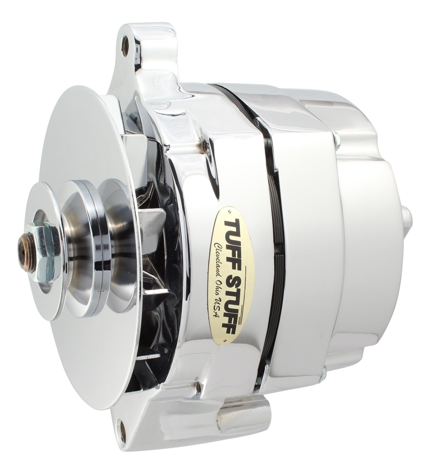 Tuff Stuff 7068rd Chrome 1 Wire Groove Pulley 100 Amp Gm Alternator Wiring For Ford Automotive