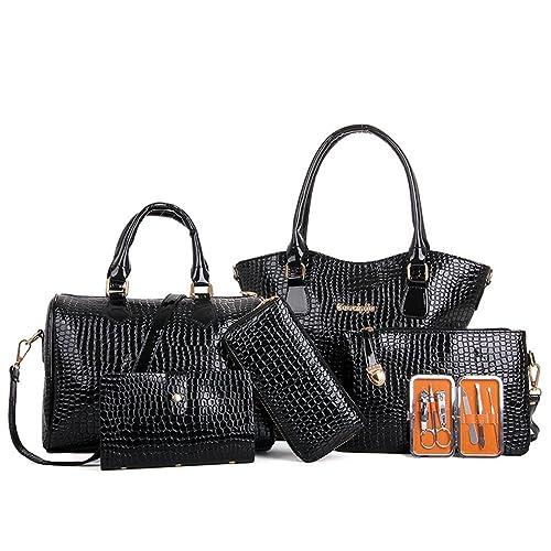 bc4976c94a6 MIOIM Mujer Bloso de 6pcs Bolso Bandolera Bolso Mano Bolso Tote Bag Bolso  Cuero Bolso Shopper