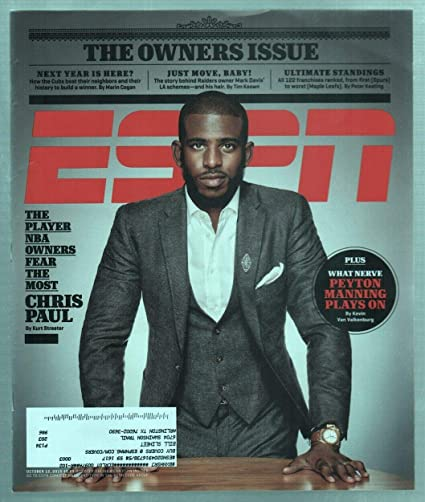 Espn Magazine October 12 2015 Player Nba Owners Fear Most Chris Paul Cover Vg At Amazon S Sports Collectibles Store