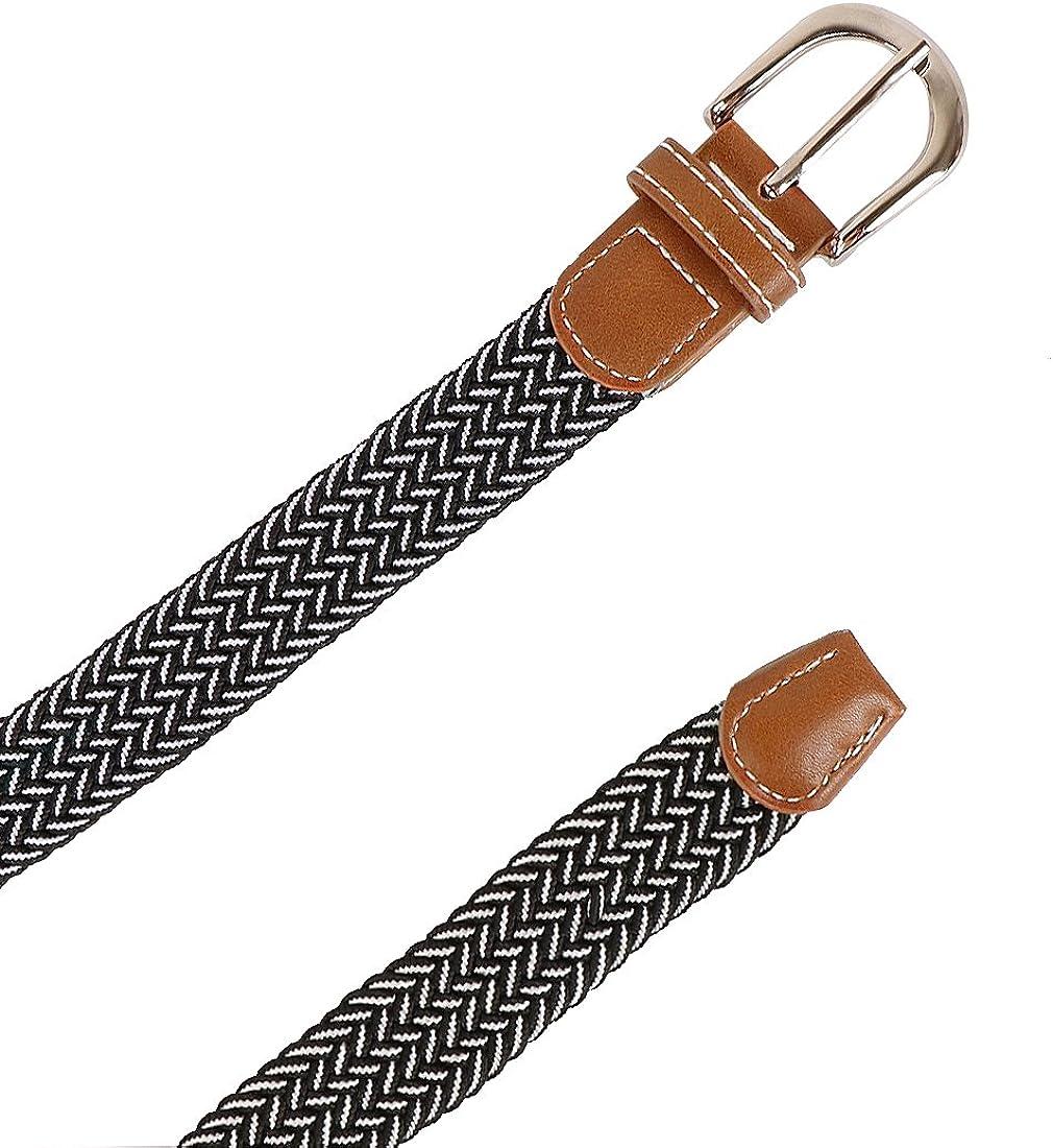 kilofly 3 pcs Kids Boys Girls Stretchy Elastic Web Woven Braided Belts Set