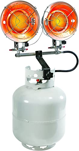 PowerGear Contractor Grade Radiant Double Burner Propane Tank Top Heater