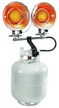 PowerGear Contractor Grade Radiant Double Burner Propane Tank Top Heater