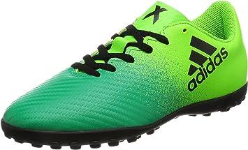 habilitar Semicírculo Guia  adidas X 16.4 TF J - Botas de fútbolpara niños, Verde -  (Versol/Negbas/VERBAS), 4: Amazon.es: Deportes y aire libre
