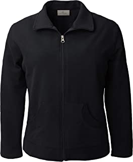 product image for Akwa Women's Long Sleeve Full Zip Lightweight Jacket Made in USA