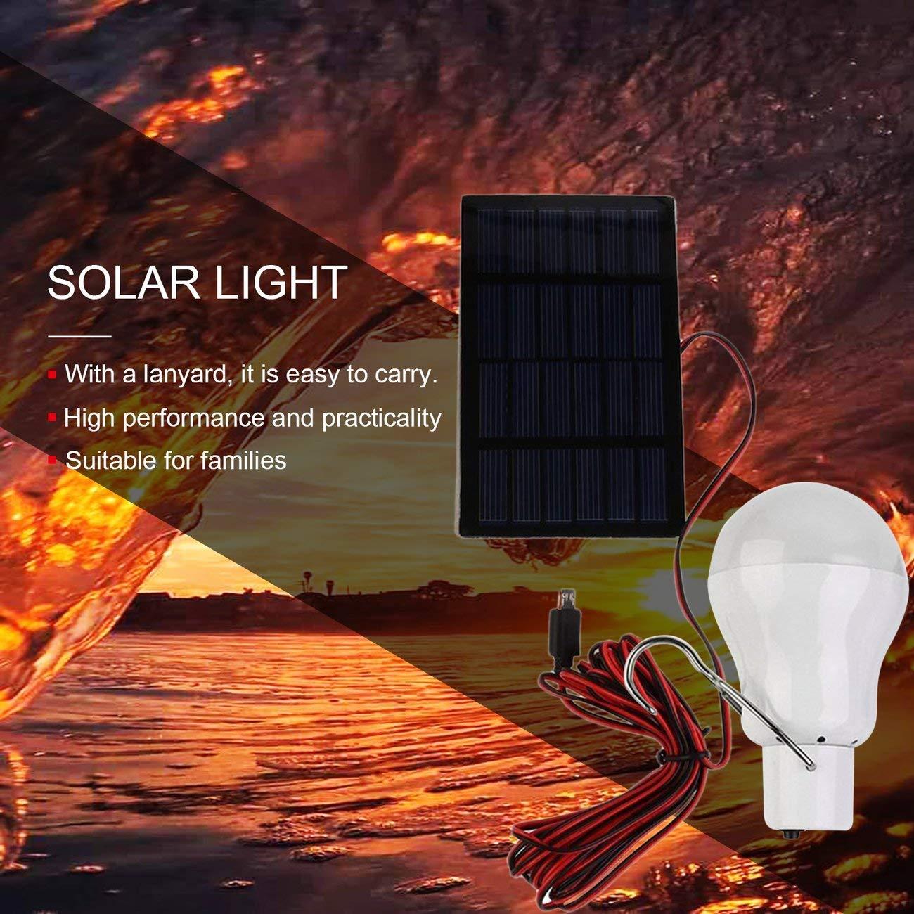 15W 150 Lampada portatile a energia solare Lampadina a LED a energia solare Lampada a energia solare caricata Torcia da esterno Tenda da campeggio Luce da pesca bianca JBP-X