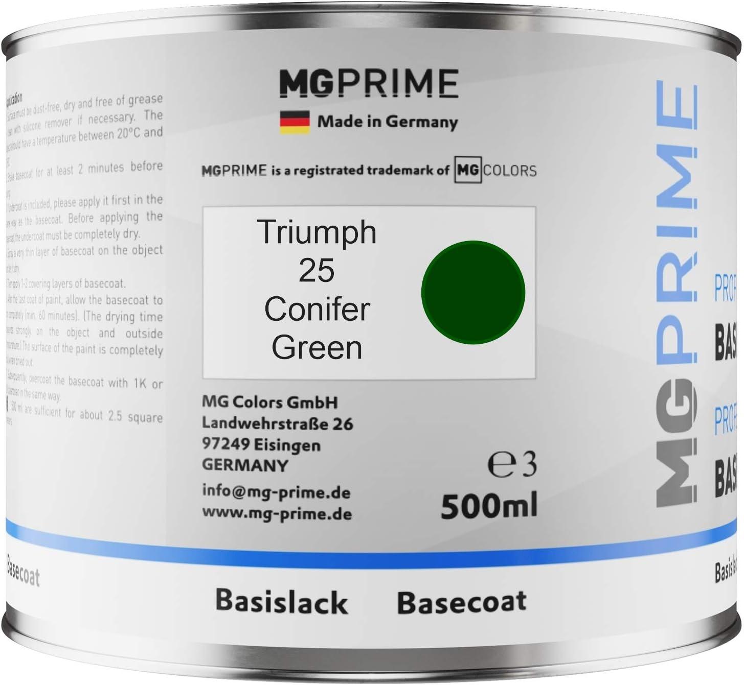 Mg Prime Autolack Dose Spritzfertig Für Triumph 25 Conifer Green Basislack 0 5 Liter 500ml Auto