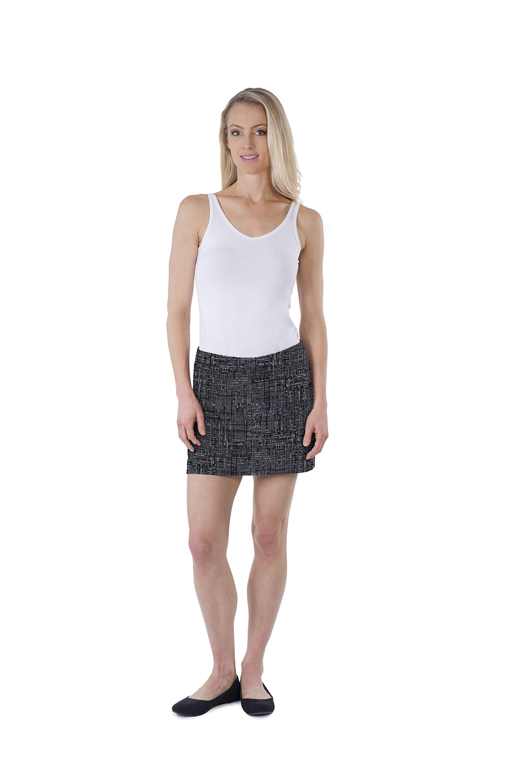 Colorado Clothing Women's Everyday Skort (Tweed Charcoal, L) by Colorado Clothing