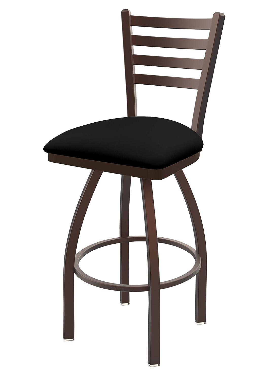 Holland Bar Stool Co. 41036BZBlkVinyl 410 Jackie Swivel Bar Stool, 36 Seat Height, Black Vinyl