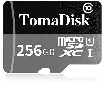TomaDisk - Tarjeta micro SD de 128 GB, clase 10, tarjeta micro SD SDXC con adaptador (128 GB).
