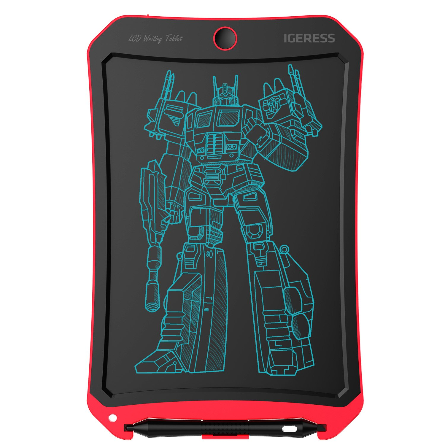 IGERESS Newest 8.5-inch LCD Writing Tablet with Cool Robot Element Design Electronic Writing Board for Kids and Adults Happy Drawing and Working Saving Papers