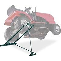 Relaxdays Elevador Cortacésped 400 kg, Gato Quad y Tractor, Ángulo de Inclinación Ajustable, 1 Ud., Acero, Verde