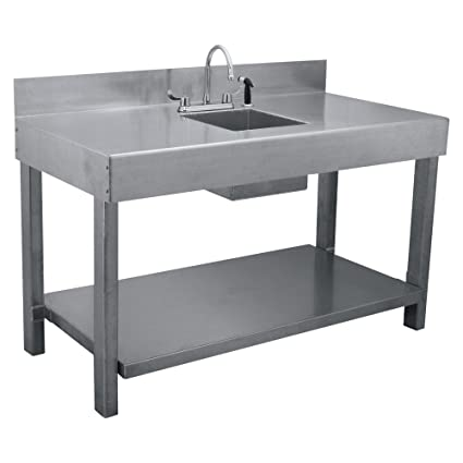Genial Aluminum Fish Table With Sink