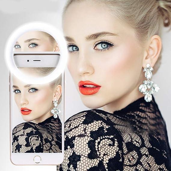 Phone Light Ring Makeup Light Phone Ring Light For Cell Phone Face Mirror Makeup Mirror Circle Light Led Selfie Ring Light White