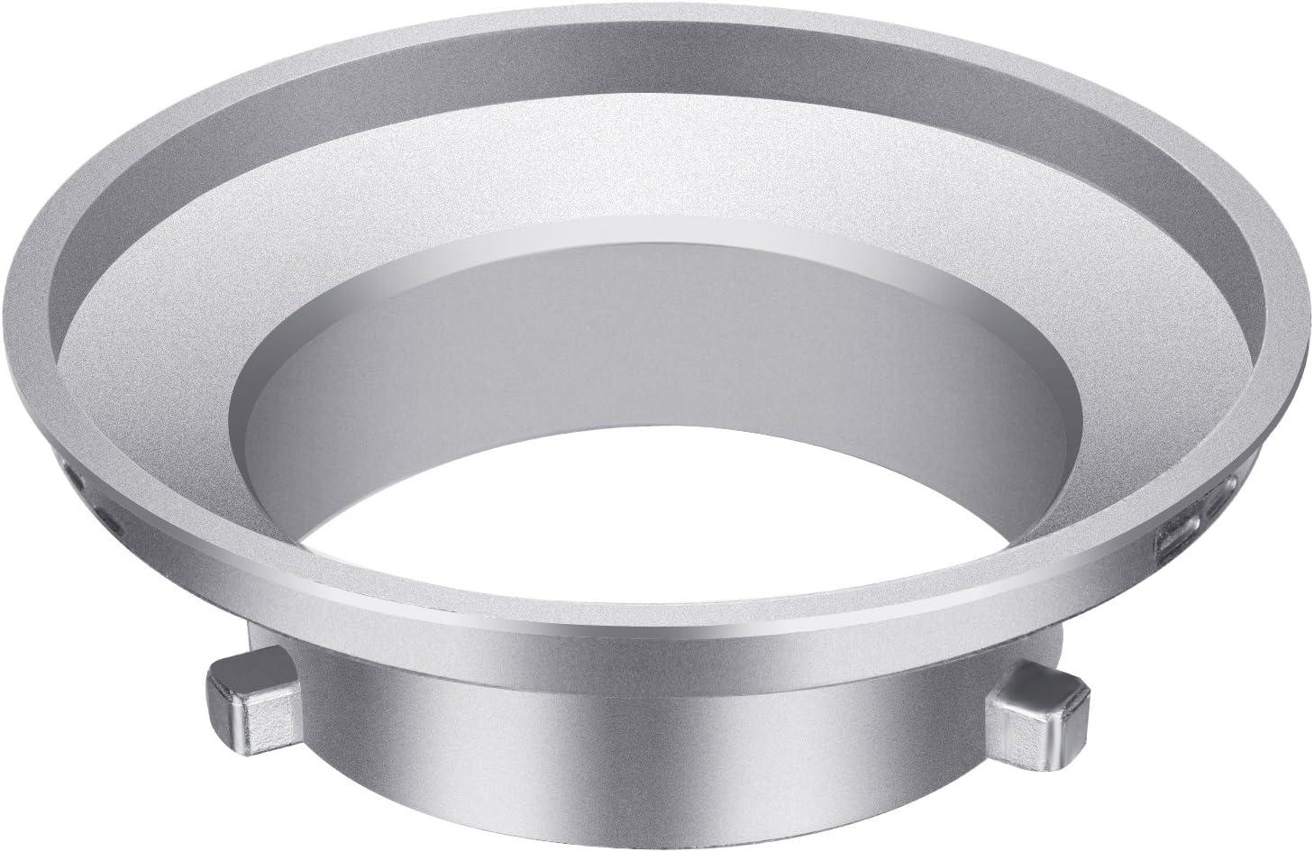 Neewer luz de flash, velocidad anillo adaptador para Softbox Bowens flash Monolight y suave caja – Aleación de aluminio, 3,8 pulgadas/9,6 cm de diámetro interior y 5,9 pulgadas/15 cm diámetro exterior: Amazon.es: Electrónica