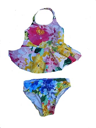 ba1792547e4a9 Amazon.com: RALPH LAUREN Baby- Girls Floral 2 Piece: Clothing