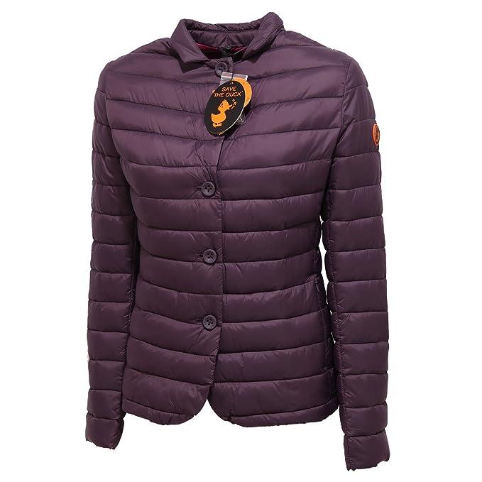 SAVE THE DUCK - Abrigo - para mujer violeta S: Amazon.es: Ropa y accesorios