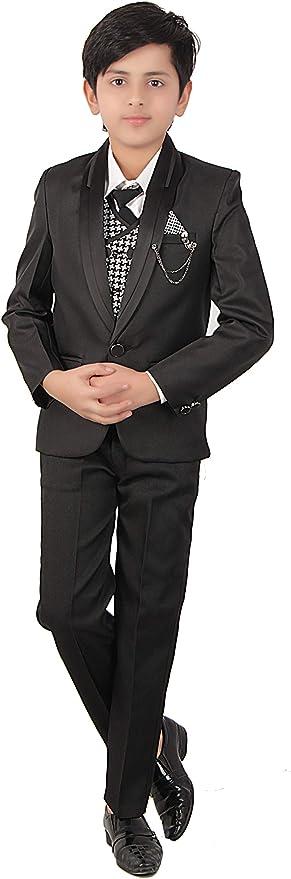 Fourfold - Abrigo de 5 Piezas, Color Negro con Camisa, pantalón ...